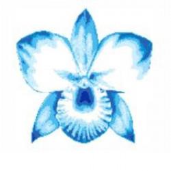 Decoratiune mozaic Orchid...