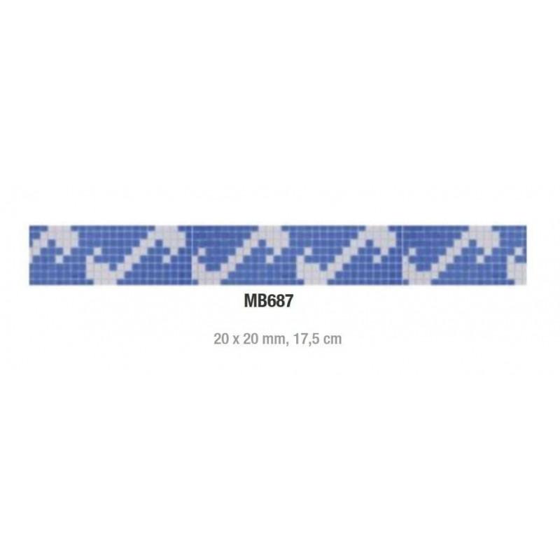 Friza mozaic sticla MB687 suport hartie 20x20 cm  de la VetroGlassMosaic referinta MB687