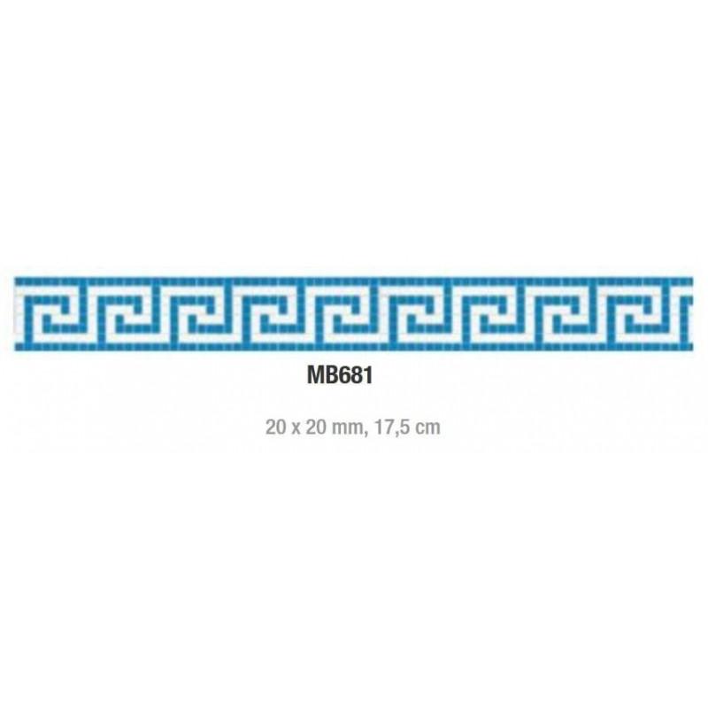 Friza mozaic sticla MB681 suport hartie 20x20 mm  de la VetroGlassMosaic referinta MB681