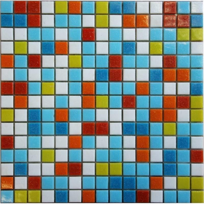 Mozaic sticla Mix 201 suport hartie 20x20 cm  de la VetroGlassMosaic referinta M201