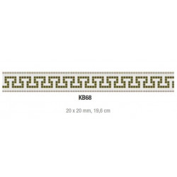 Friza mozaic sticla K68 suport hartie 20x20 cm  de la VetroGlassMosaic referinta K68
