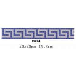 Friza mozaic sticla MB684 suport hartie 20x20 cm  de la VetroGlassMosaic referinta MB684