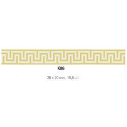 Friza mozaic sticla K86 suport hartie 20x20 cm  de la VetroGlassMosaic referinta K86