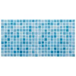 Mozaic sticla Niebla Turquesa, suport polybond, 2.5x2.5 cm, cutie 2mp  de la SpaZone referinta HS502