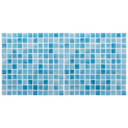 Mozaic sticla Niebla Turquesa, suport polybond, 2.5x2.5 cm, cutie 2mp  de la HS referinta HS502