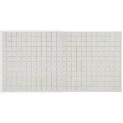 Mozaic sticla Claro alb, suport polybond, 2.5x2.5 cm, cutie 2mp  de la HS referinta HS180