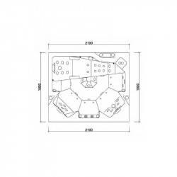 Spa Sapphire OKA 3, model dreptunghi, 5 locuri  de la Hanscraft referinta SPA-OKA3