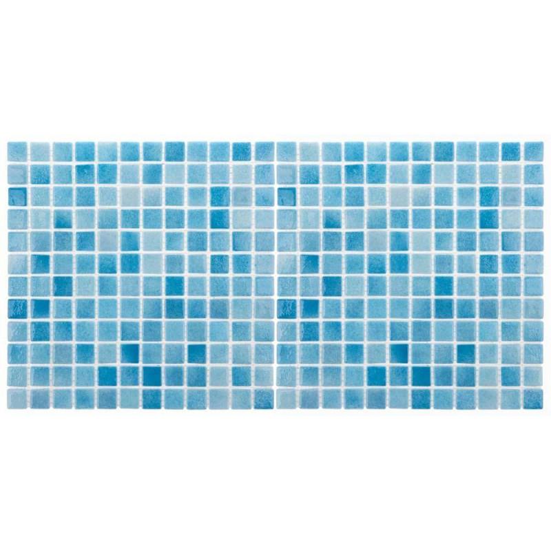 Mozaic sticla Niebla Turquesa antiderapant, polybond, 2.5x2.5 cm, cutie 2mp  de la SpaZone referinta HS502A