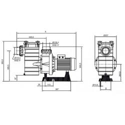 Pompa HCP 4000, 7.50 CP, 400V  de la Hayward Pool referinta HCP40753E