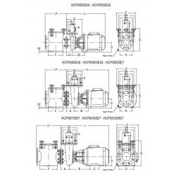 Pompa HCP 5000, 7.5 CP, 400V  de la Hayward Commercial Aquatics referinta HCP50753E7