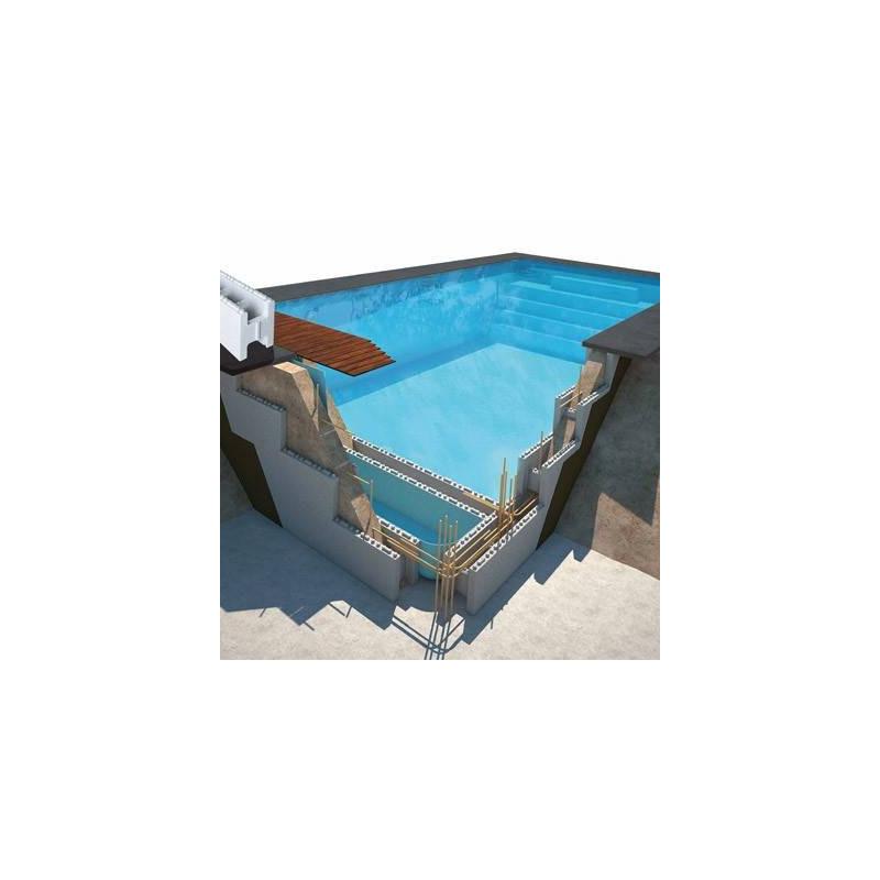Piscina polistiren - pachet blocuri polistiren piscina 8x4x1.50m  de la HS referinta PACK8x4x150POLY
