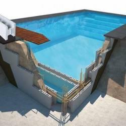 Piscina polistiren - pachet blocuri polistiren piscina 10x5x1.50m  de la SpaZone referinta PACK10x5x150POLY