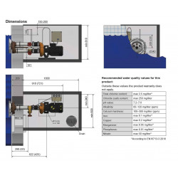 Sistem inot contra-curent Jet Swim 1200 - liner  de la Pahlen referinta 33026
