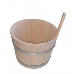 Galeata din lemn inel metal 7L pentru sauna  de la Sentiotec referinta 1-044-284