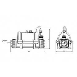 Incalzitor electric titan 8kW Nano Spa  de la Elecro Engineering referinta N-SPA-T8-R