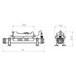 Incalzitor electric titan 18kW Flowline 2 - 400V  de la Elecro Engineering referinta FL2-3-18