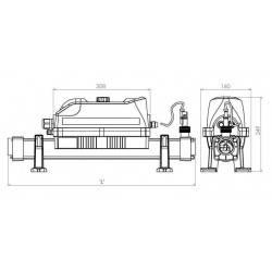Incalzitor electric titan 2kW Evolution 2 Analog  de la Elecro Engineering referinta E2-1-2