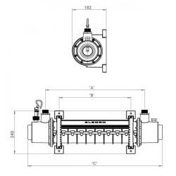 Schimbator de caldura din titan 36KW SST  de la Elecro Engineering referinta SST-36