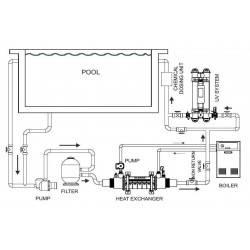 Schimbator de caldura din titan 95KW SST  de la Elecro Engineering referinta SST-95