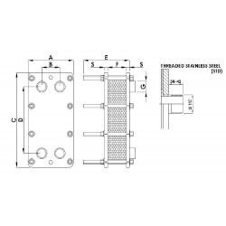 Schimbator de caldura in placi titan 140 kW  de la Elecro Engineering referinta PHE140-TI
