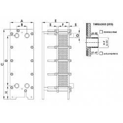 Schimbator de caldura in placi titan 735 kW  de la Elecro Engineering referinta PHE730-TI