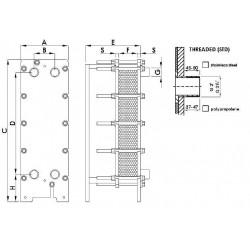 Schimbator de caldura in placi titan 819 kW  de la Elecro Engineering referinta PHE820-TI