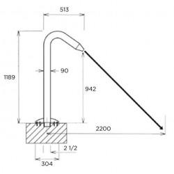 Tun de apa Fidji, duza circulara, AISI-316 lustruit  de la Flexinox referinta 87185014