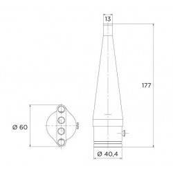 Duza C tun de apa Tahiti, AISI-316  de la Flexinox referinta 87187011