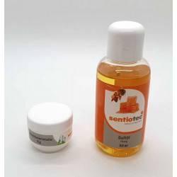 Set Wellness 2 bucati, esenta miere si cristale mentolate  de la Sentiotec referinta SET-2-MIERE