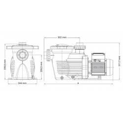 Pompa recirculare K-Flo 0.33 CP 230V  de la Hayward Pool referinta SPK12603XY1