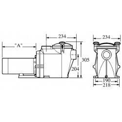 Pompa recirculare viteza variabila RS II VSTD 2 CP Hayward  de la Hayward Pool referinta RS3020VSTD
