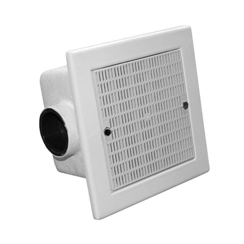 Sifon patrat beton 355x355 grila ABS - D75  de la Hayward Commercial Aquatics referinta 060301107500
