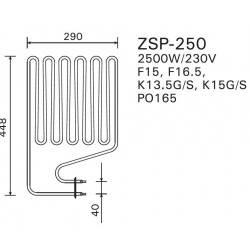Rezistenta electrica incalzitor sauna 2500 W, Harvia Legend  de la Harvia referinta ZSP-250