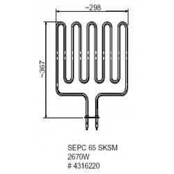 Rezistenta electrica Helo sauna 2670 W, Model SEPC 65  de la Helo referinta 4316220
