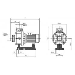 Pompa HCP 1000, 3.5 CP, 400V IE3  de la Hayward Pool referinta HCP10353E