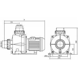 Pompa HCP 0900, 1.0 CP, 230V  de la Hayward Commercial Aquatics referinta HCP09101E