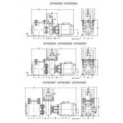Pompa HCP 5000, 2 CP, 400V  de la Hayward Commercial Aquatics referinta HCP5023E24