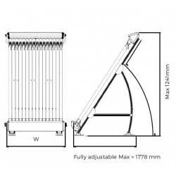 Panou solar 32 tuburi vidate Thermecro - sistem complet  de la Elecro Engineering referinta SRC-32
