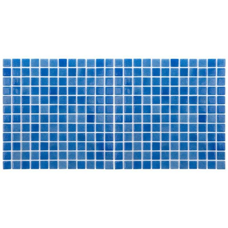 Mozaic sticla Niebla Celeste antiderapant, polybond, 2.5x2.5 cm, cutie 2mp  de la SpaZone referinta HS501A