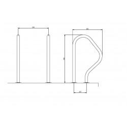 Set 2 manere pentru scara split, AISI-316  de la Flexinox referinta 87101317N