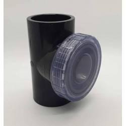 Clapeta de sens T capac transparent PVC-U, D63  de la Plimat referinta CARBT63