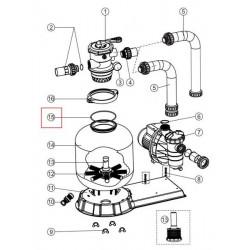 Garnitura o-ring vana deasupra filtru Pool Zone  de la Emaux referinta 02011134