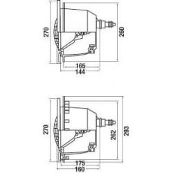 Set 3 x Proiector LED RGB liner cu modul si telecomanda  de la Hayward Pool referinta 3481C3