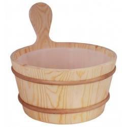 Galeata din lemn de pin 3.5L pentru sauna  de la Sentiotec referinta 1-028-570