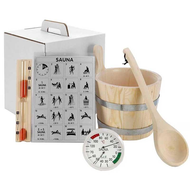 Set accesorii sauna 6 piese  de la SpaZone referinta 83670
