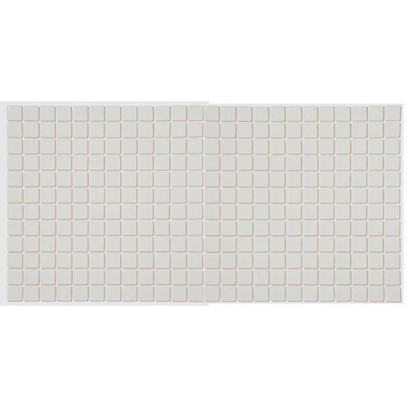 Mozaic sticla Claro alb antiderapant, suport polybond, 2.5x2.5 cm, cutie 2mp  de la SpaZone referinta HS180A