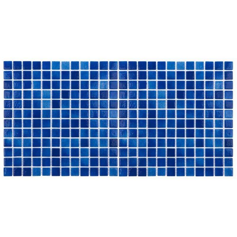 Mozaic sticla Niebla Marin antiderapant, suport polybond, 2.5x2.5 cm, cutie 2mp  de la SpaZone referinta HS591A