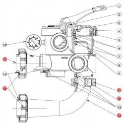 Kit conectare vana multiport Vari-Flo SP0719  de la Hayward Pool referinta SPX0719KIT