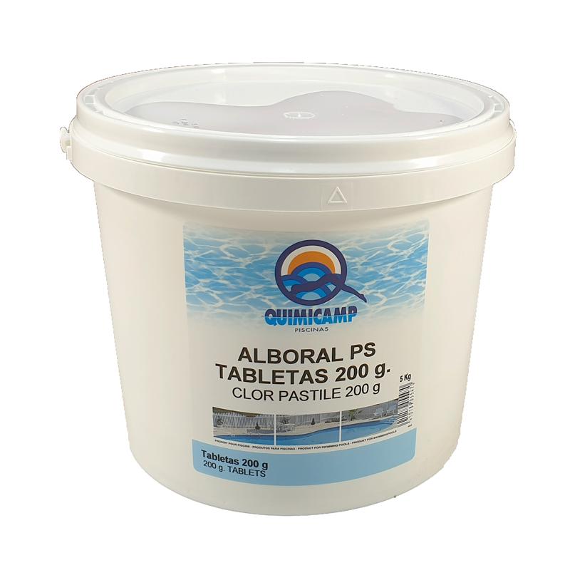 Clor lent tablete 200 grame pentru piscine, 5kg  de la Quimicamp Piscinas referinta CHS 370-5A