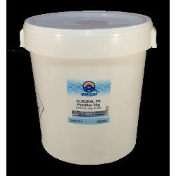 Clor rapid tablete 20 grame pentru piscine, 25kg  de la Quimicamp Piscinas referinta CHS 250-25A